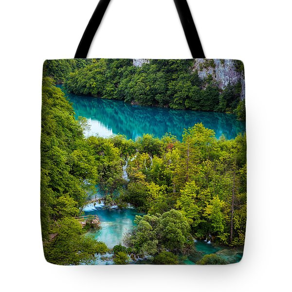 Plitvice Twilight Tote Bag