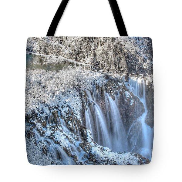 Plitvice Winter Tote Bag