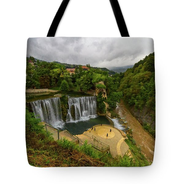Pliva Waterfall, Jajce, Bosnia And Herzegovina Tote Bag