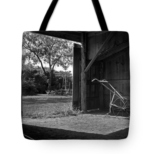 Plow Is In The Barn Tote Bag