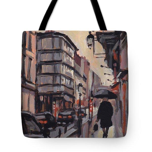 Pluie Rue De Regence Liege Tote Bag