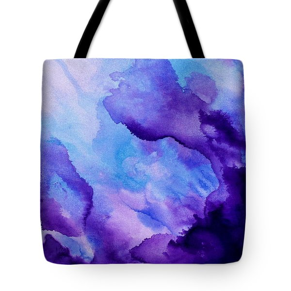 Plum And Blue Tote Bag