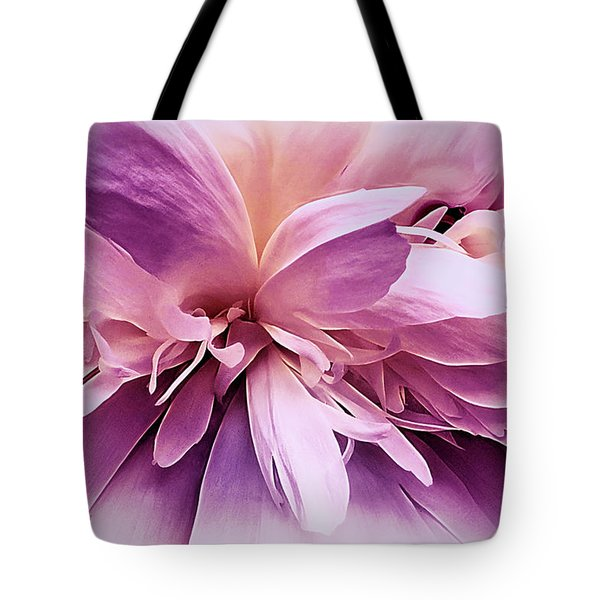 Tote Bag featuring the photograph Plum Ballet Powder Puff by Darlene Kwiatkowski