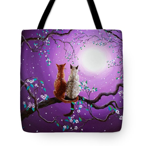 Plum Blossoms In Pale Moonlight Tote Bag