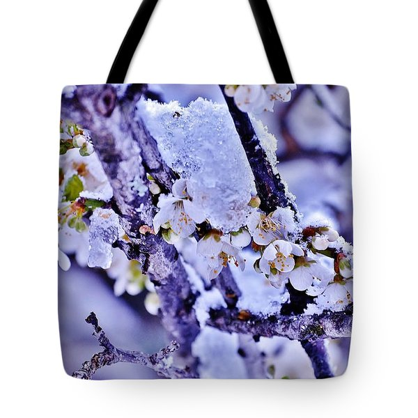 Plum Blossoms In Snow Tote Bag