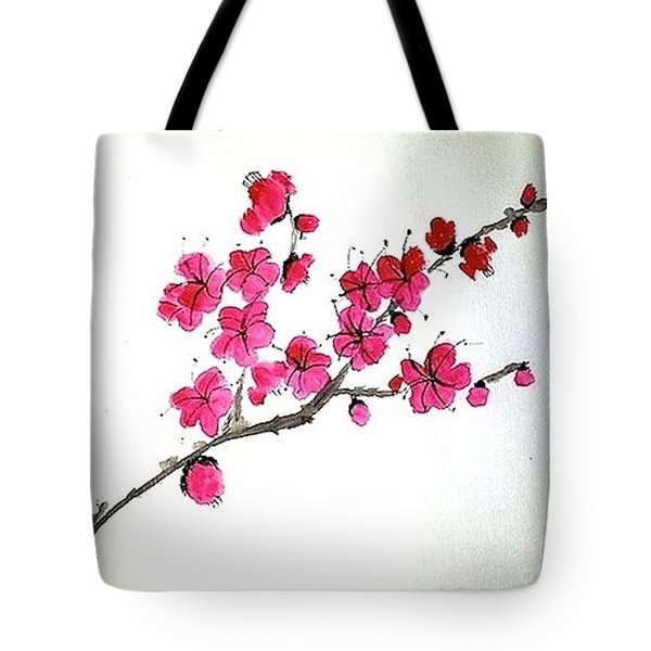Plum Blossoms Tote Bag