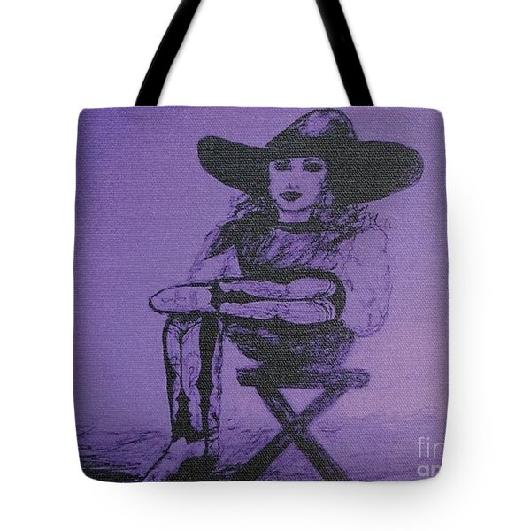 Plum Cowgirl Tote Bag by Susan Gahr