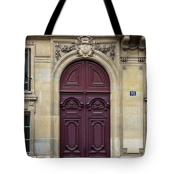 Plum Door - Paris, France Tote Bag by Melanie Alexandra Price