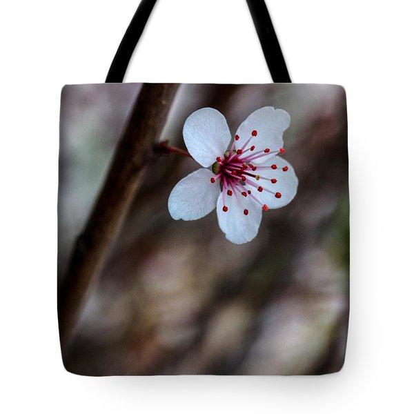 Plum Flower Tote Bag