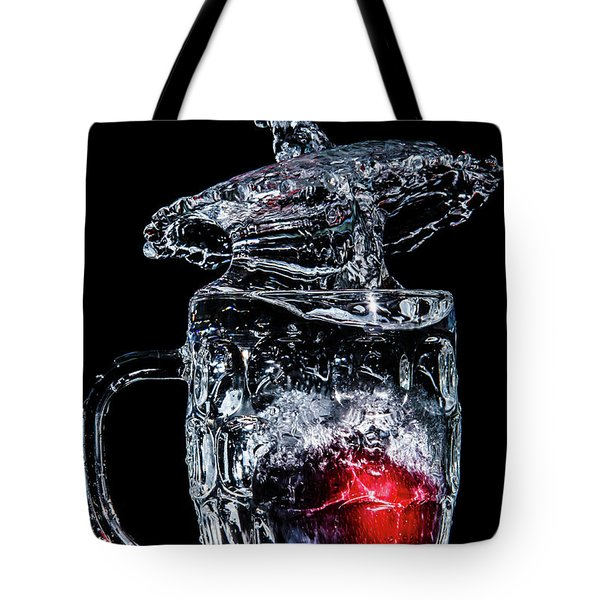 Plum Splash Tote Bag