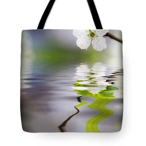 Plum Tree Blooming Tote Bag by Kati Molin