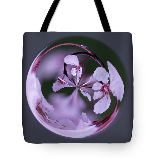 Plum Tree Orb Tote Bag