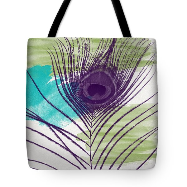 Plumage 2-art By Linda Woods Tote Bag