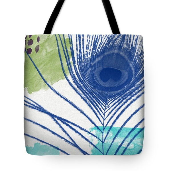 Plumage 3- Art By Linda Woods Tote Bag by Linda Woods