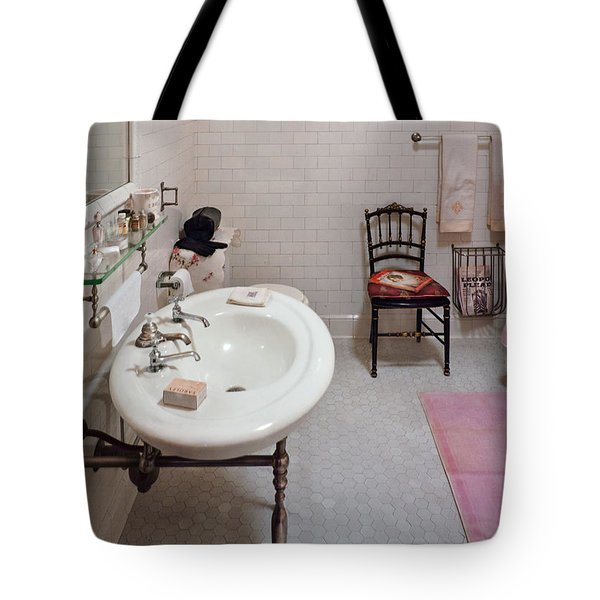 Plumber - The Bathroom  Tote Bag by Mike Savad