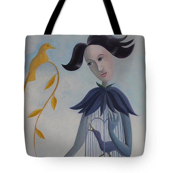 Plume And Golden Bird Tote Bag by Tone Aanderaa