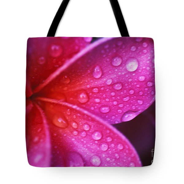 Plumeria Blossom Tote Bag by Ron Dahlquist - Printscapes