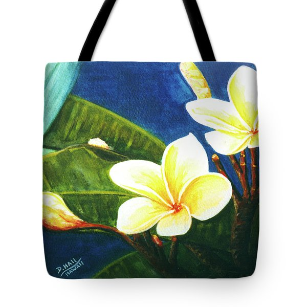 Plumeria Flower # 140 Tote Bag by Donald k Hall