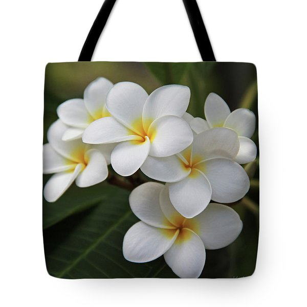 Plumeria - Golden Hearts Tote Bag