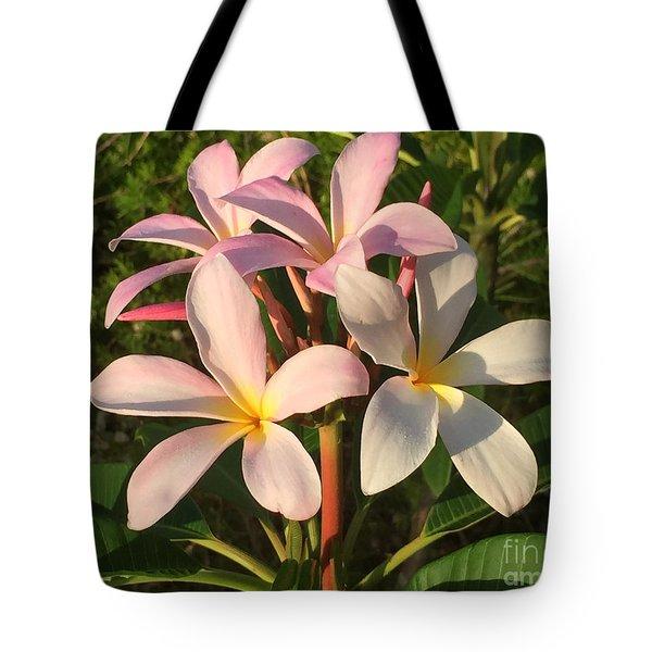Tote Bag featuring the photograph Plumeria Heaven by LeeAnn Kendall