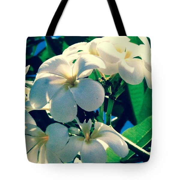 Plumeria In The Sun II - Edit Tote Bag by Alohi Fujimoto