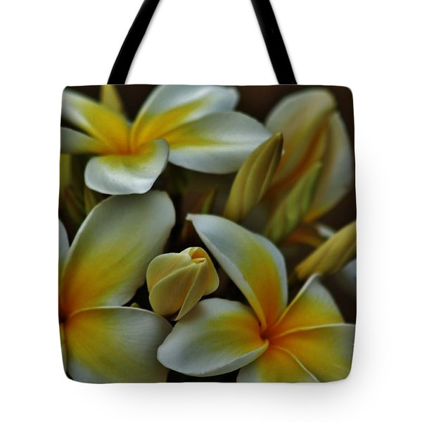 Tote Bag featuring the photograph Plumeria In Yellow And White by Craig Wood