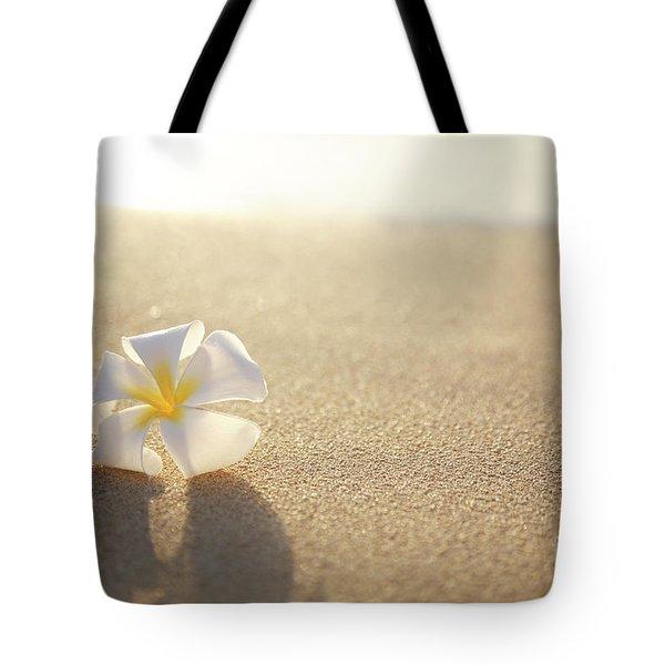 Plumeria On Beach I Tote Bag by Brandon Tabiolo - Printscapes