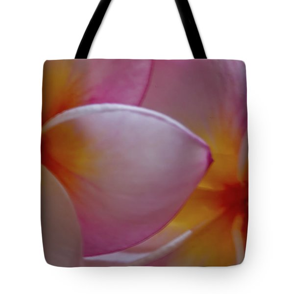 Tote Bag featuring the photograph Plumeria Pair by Roger Mullenhour