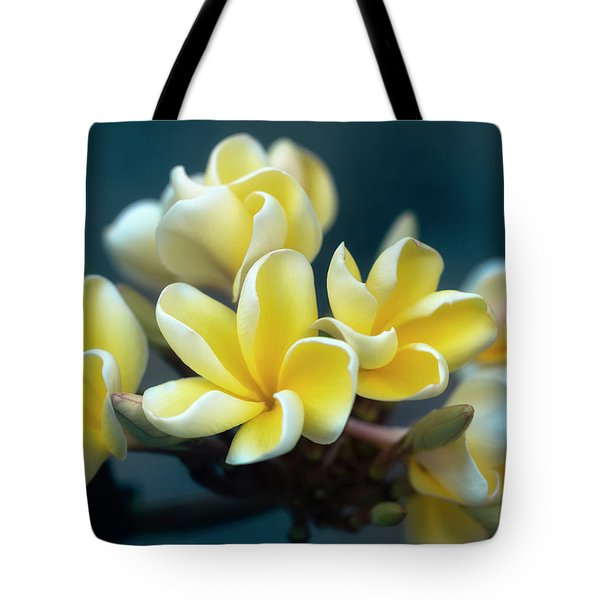 Plumerias Out Of The Blue Tote Bag