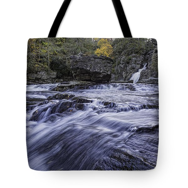Tote Bag featuring the photograph Plunge Basin Linville Falls by Ken Barrett
