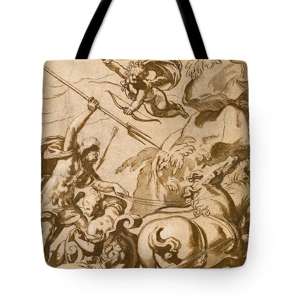Pluto Abducting Persephone Tote Bag