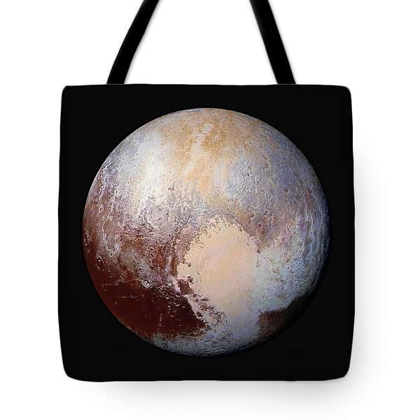 Pluto Dazzles In False Color - Square Crop Tote Bag