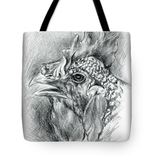 Plymouth Barred Rock Hen In Charcoal Tote Bag