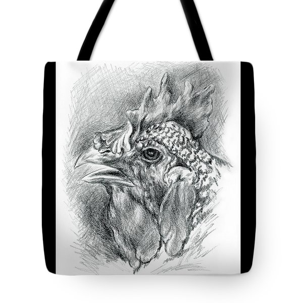 Plymouth Barred Rock Hen In Charcoal Tote Bag by MM Anderson
