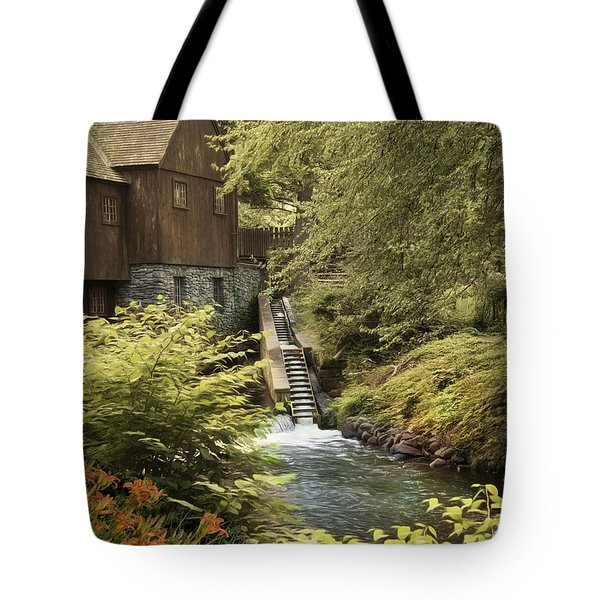 Tote Bag featuring the photograph Plymouth Fish Ladder by Robin-Lee Vieira