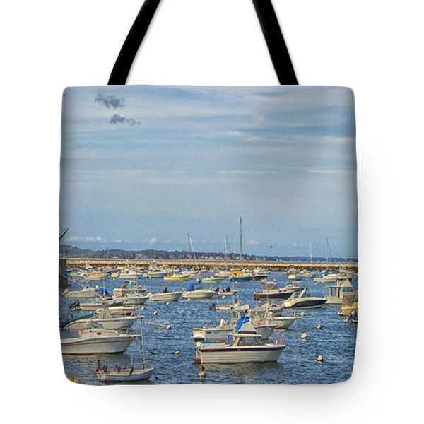 Tote Bag featuring the photograph Plymouth Harbor In September by Constantine Gregory