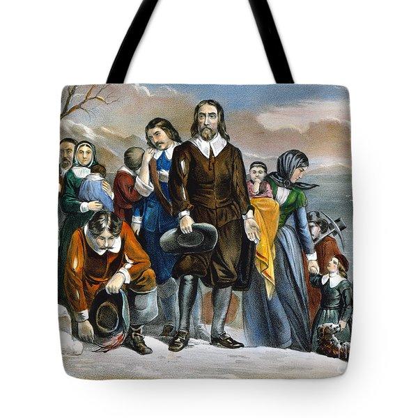Plymouth Rock, 1620 Tote Bag