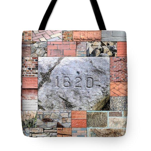 Plymouth Rocks And Bricks Tote Bag