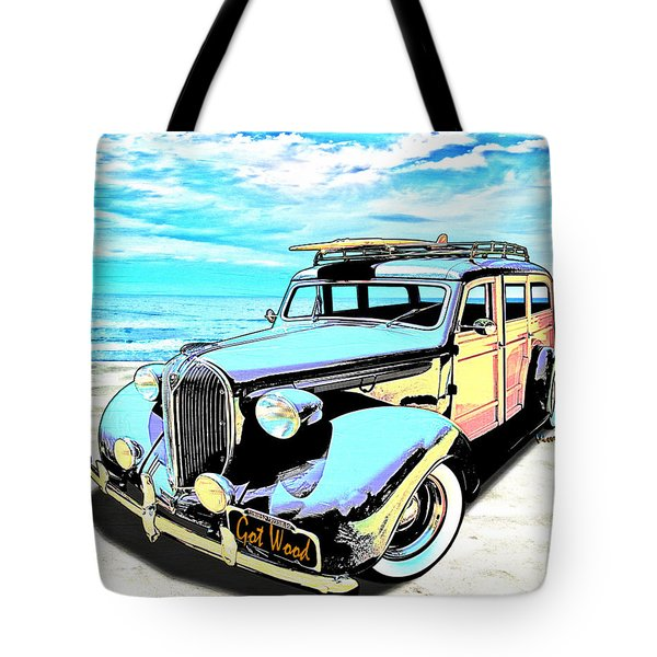 Plymouth Woody Early In The Morning By The Sea Tote Bag