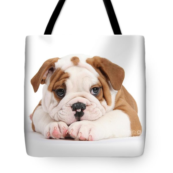 Po-faced Bulldog Tote Bag