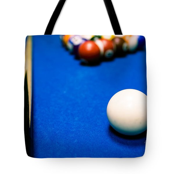 8 Ball Pool Table Tote Bag