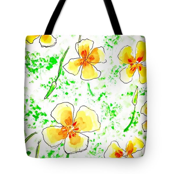 Pocket Full Of Poppies Tote Bag