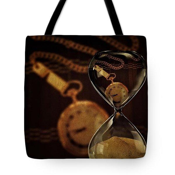 Pocket Watch And Sandglass Tote Bag