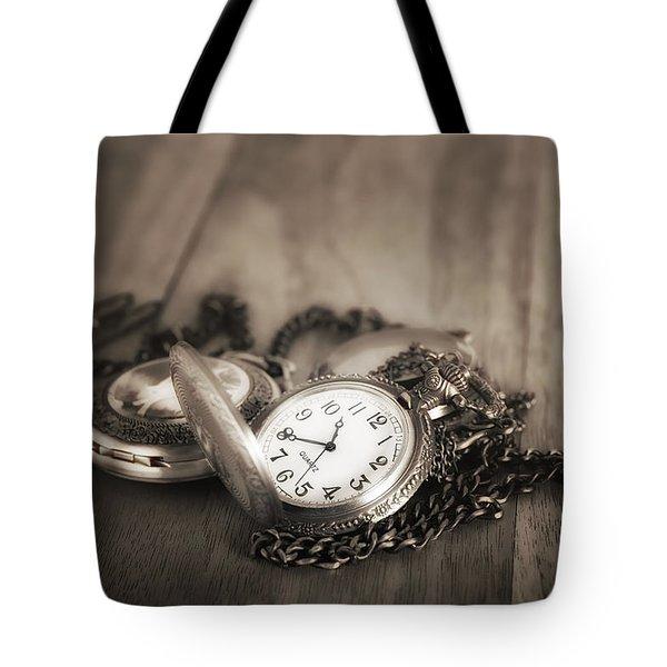 Pocket Watches Times Three Tote Bag