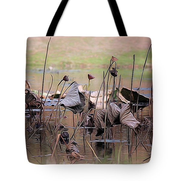 Pods At Sunset Tote Bag