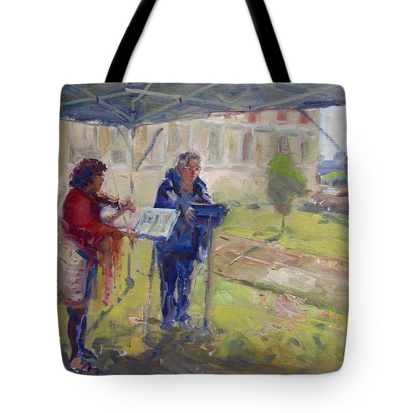 Poetry And Violin Tote Bag