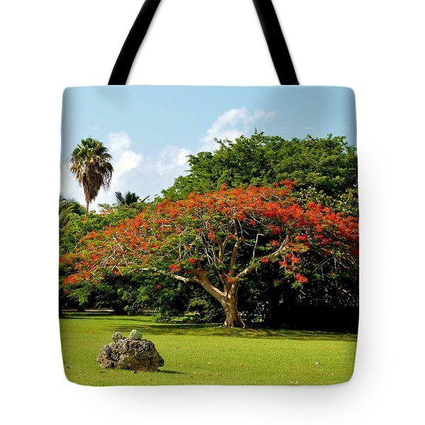 Poinciana Tote Bag