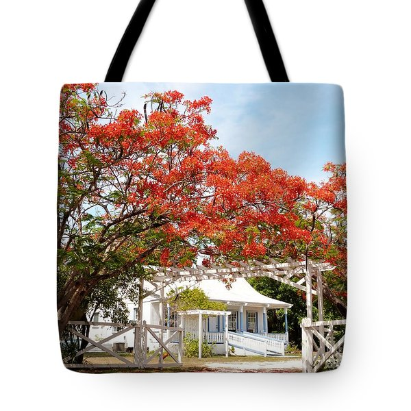 Poinciana Cottage Tote Bag