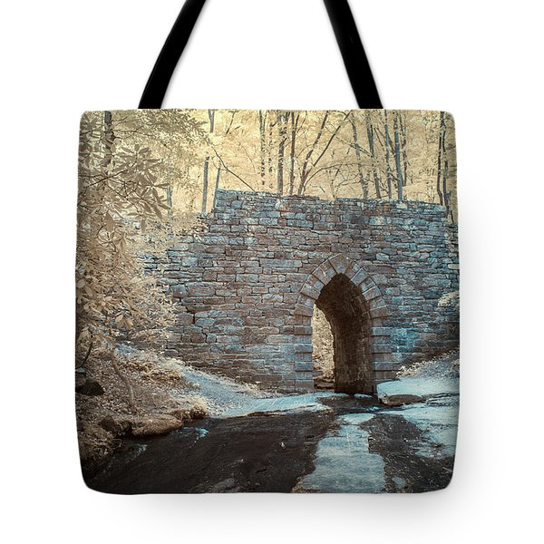 Tote Bag featuring the photograph Poinsett Bridge-ir-10 by Joye Ardyn Durham