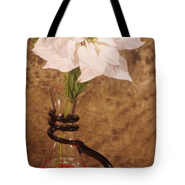 Poinsettia In Pitcher  Tote Bag